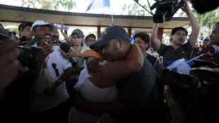 México: llegada de miembros de la 'Caravana Paso a Paso por la Paz' a Tapachula -Chiapas- el 26 de julio de 2011.