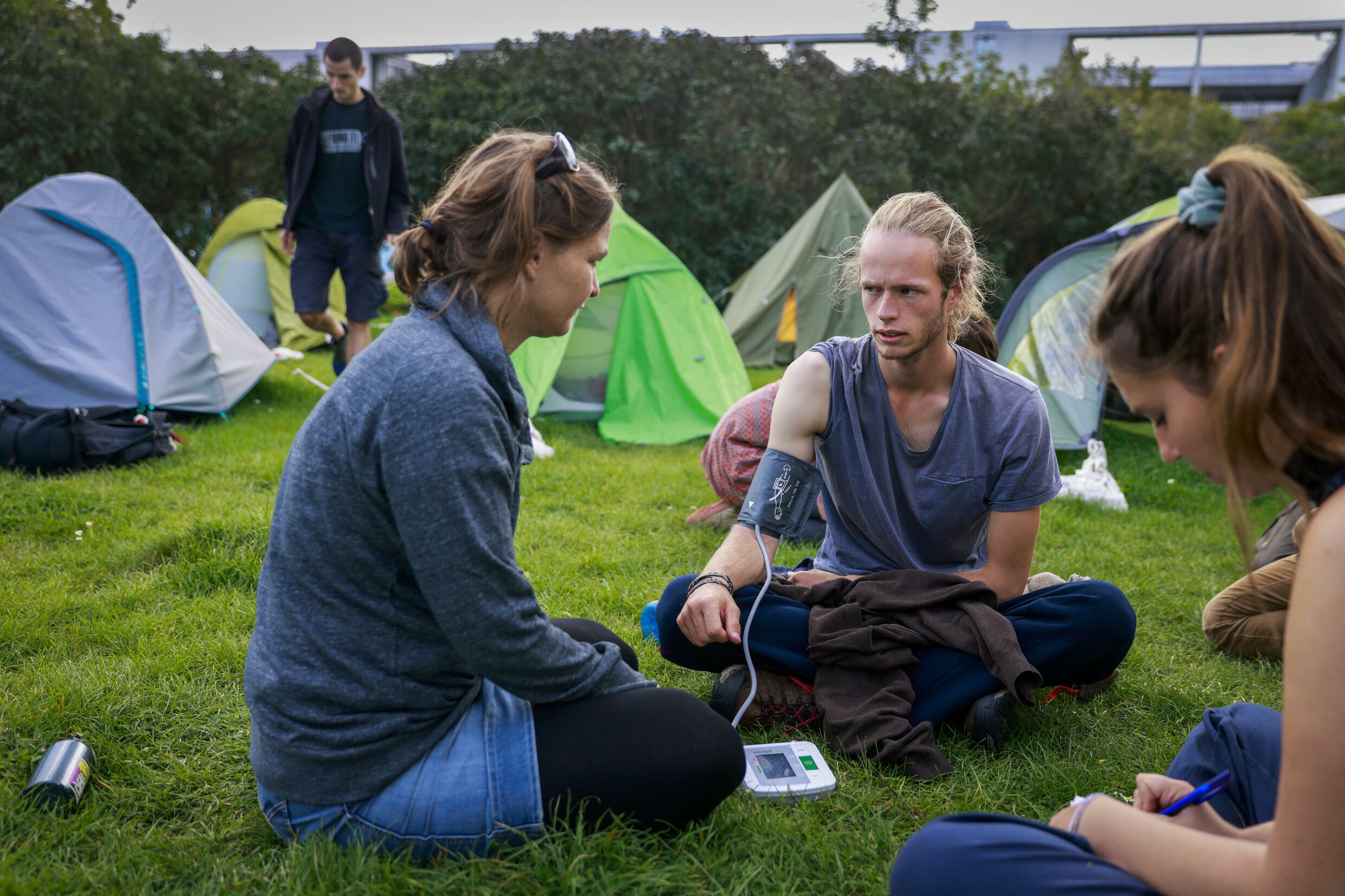 The climate activists want to meet chancellor candidates, conservative Armin Laschet, Social Democrat Olaf Scholz and the Greens' Annalena Baerbock