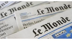 法國《世界報》(資料圖片)