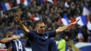 Karim Benzema, auteur du but contre le Brésil, le 9 février 2011.