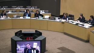 Mediapart founder Edwy Plenel and his colleague Fabrice Arfi appear at the Cahuzac inquiry