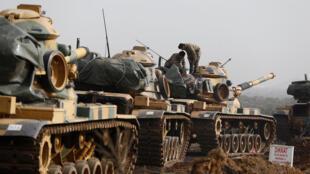 Dakarun Turkiya na luguden wuta a Yankin Afrin na Syria kan Kurdawan YPG