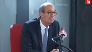 Éric Woerth, président de la commission des finances, député LR de l'Oise dans les studios de RFI, le 15 septembre 2020.