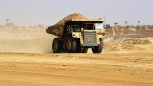 Cargaison issue de la mine de phosphate de Taïba exploitée par ICS.