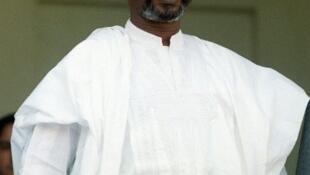 L'ancien président tchadien Hissène Habré, lors de sa visite à Paris, le 21 octobre 1989.