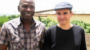 Ballaké Sissoko and Vincent Segal in  Bamako, on Sissoko's rooftop where the album was recorded