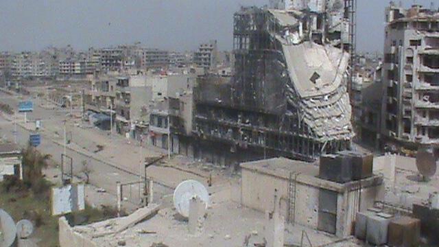 Общий вид города Хомса 04/05/2012