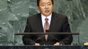 蒙古国前总统额勒贝格道尔吉(Elbegdorj Tsakhia) 资料照片