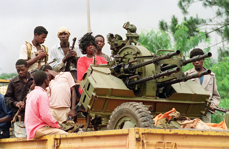 Fidèles de Charles Taylor (Montrovia, août 1990)