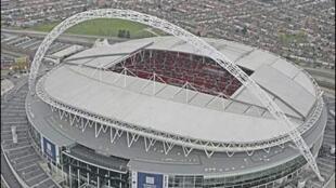 Vista do estádio de  Wembley.
