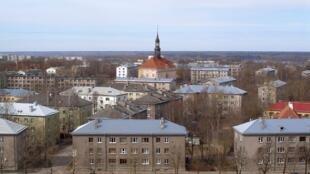 Vue du centre-ville de Narva.