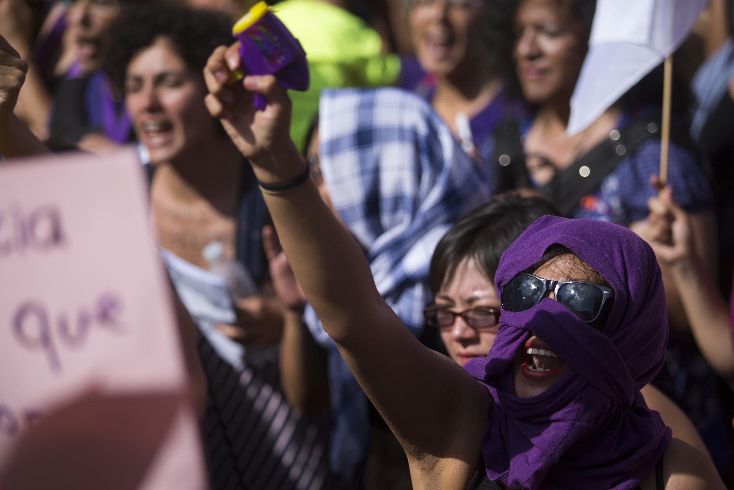 Protest march calling for a halt to violence against women in Mexico in April 2016 pre-#metoo
