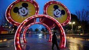 Công viên giải trí Disney Resort ở Thượng Hải đóng cửa dịp Tết nguyên đán. Ảnh chụp ngày 24/01/2020.