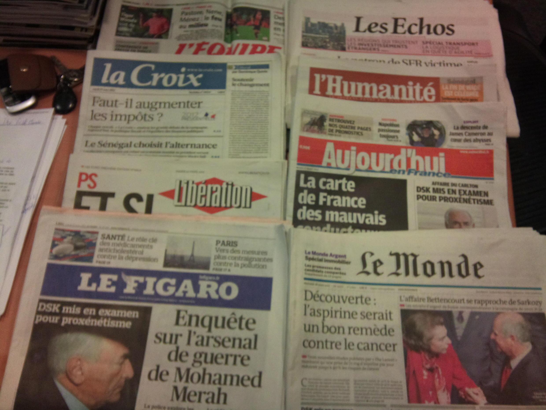 Diários franceses 27/03/2012