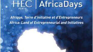 Plaquette de la première édition Afrika Days sur le campus d'HEC à Paris en 2017.