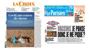 Photomontage RFI Les Unes de la presse du 6 juillet 2021