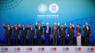 Lãnh đạo ASEAN và Úc chụp ảnh kỷ niệm trước khi bước vào họp thượng đỉnh ngày 17/03/2018 tại Sydney, Úc.