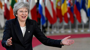 British Prime Minister Theresa May in Brussels on Thursday