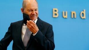 Olaf Scholz, le ministre allemand des Finances, le 23 septembre 2020.