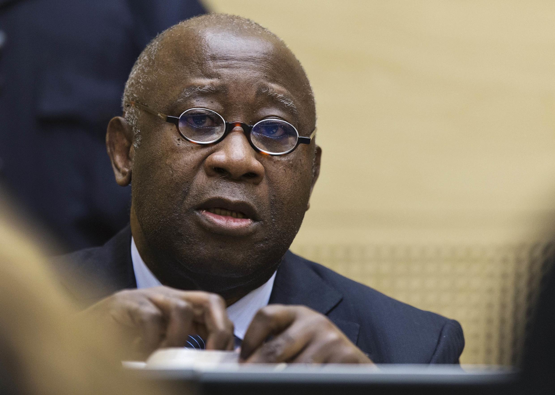 科特迪瓦前總統巴博在海牙國際法庭,2013年2月19日。