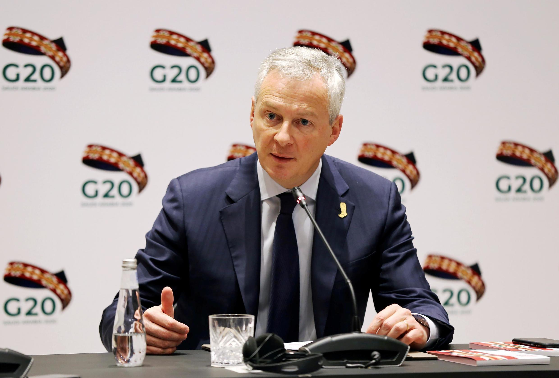 Bộ trưởng Kinh Tế Pháp Bruno Le Maire tại hội nghị G20, Riyad, Arabie Saoudite, ngày 22/02/2020
