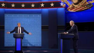 De nouvelles règles ont été instaurées pour éviter que le débat Trump-Biden ne tourne une nouvelle fois à la foire d'empoignes. Ici, le 29 septembre à Cleveland.