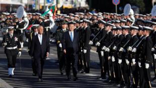 中國國家主席習近平與葡萄牙總統塞洛·雷貝羅·德索薩  2018年12月4日里斯本