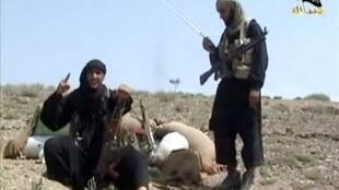 Screen grab of a video showing jihadists in a training camp in Pakistan