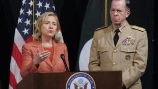 Hillary Clinton lors d'une conférence de presse à Islamabad, le 27 mai 2011