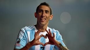 Angel Di Maria playing for Argentina in the Copa America, 30 June 2015.