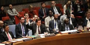 A Rússia, através do seu Embaixador na ONU, Vladimir Safronkov, usou o veto pela oitava vez contra uma resolução da ONU sobre a Síria - 12 de Abril de 2017
