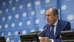 Le ministre russe des Affaires étrangères a balayé les critiques occidentales et affirmé à l'ONU que la Russie visait «l'EI, al-Nosra et d'autres groupes terroristes», comme, selon lui, les frappes de la coalition internationale.