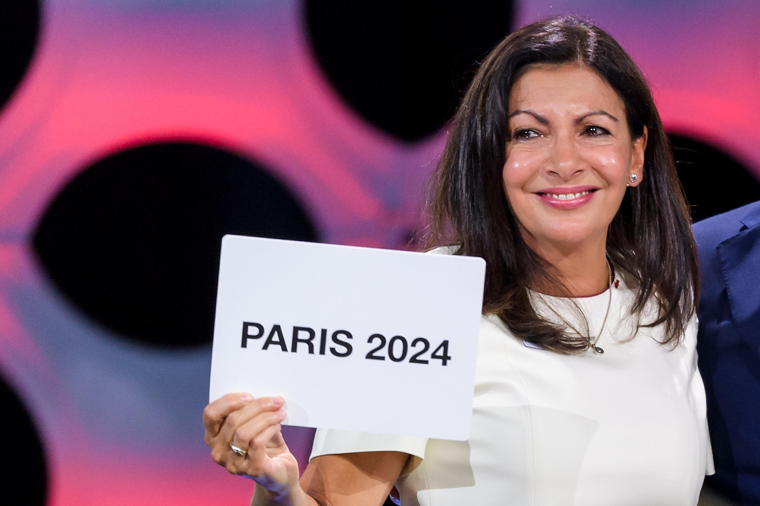 Paris Mayor Anne Hidalgo will address thousands of concert goers in Paris during the city's celebrations after being awarded the 2024 Olympic Games.