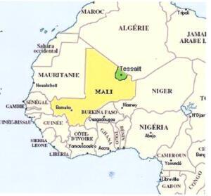 La région malienne de Tessalit.