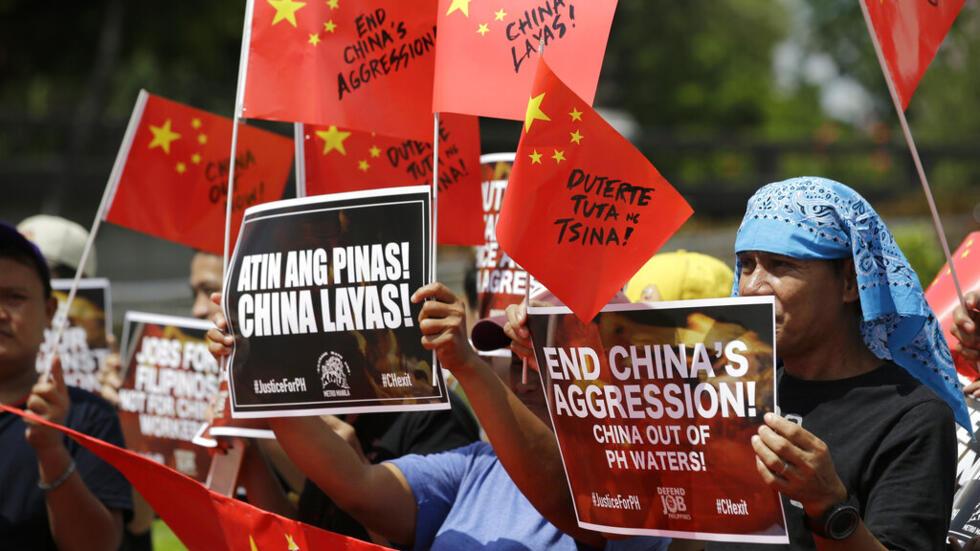 Ảnh tư liệu : Dân Philippines biểu tình phản đối Trung Quốc bành trướng trên Biển Đông, ngày 18/06/2019 tại Manila.