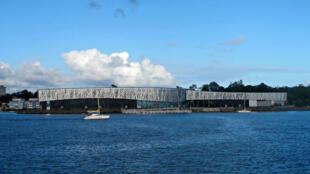 Le Mémorial Acte, Centre Caribéen d'expressions et de mémoire de la traite et de l'esclavage de Pointe à Pitre est situé sur un site symbolique, celui de l'ancienne usine sucrière Darboussier.