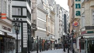 Le centre ville de la capitale hongroise, Budapest, déserté par ses habitants le 28 mars 2020.