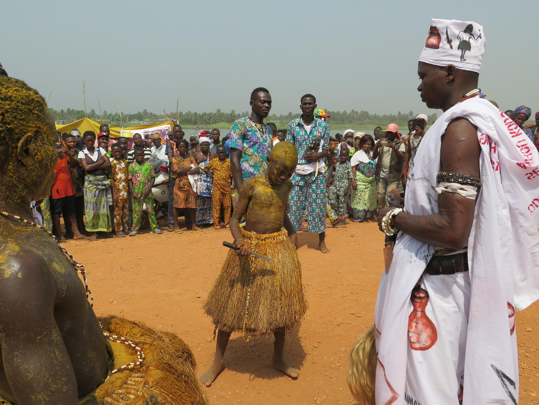 Plage de Grand-Popo, cité côtière à l'ouest du Bénin, lors de la fête du vaudou du 10 janvier.