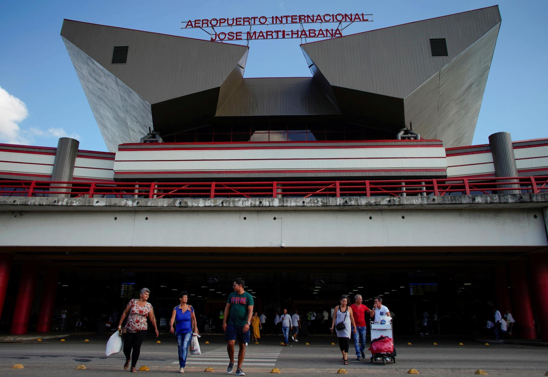 L'entrée de l'aéroport international Jose Marti de La Havane, le 25 septembre 2019.