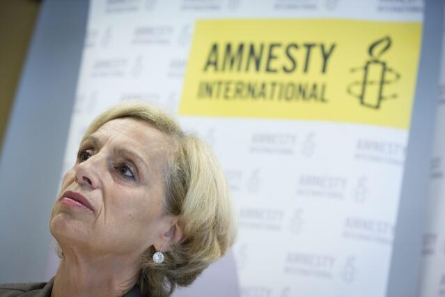 Geneviève Garrigos, présidente d'Amnesty international France.