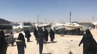 En el campo de Roj, Siria, julio 2019
