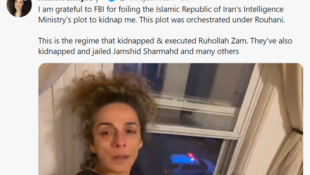 旅居美国的伊朗女记者阿琳娜嘉德(Masih Alinejad)资料图片