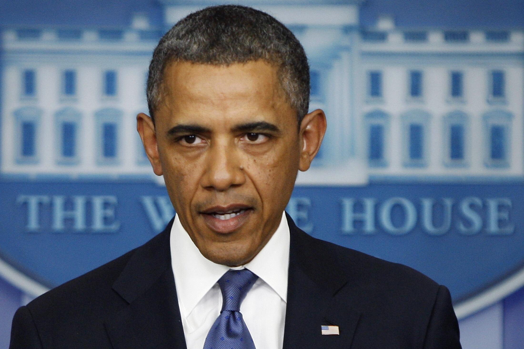 O presidente americano Barack Obama durante coletiva de imprensa na última sexta-feira, na Casa Branca, após reunião com líderes do Congresso.