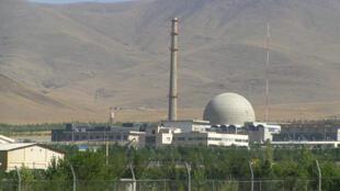Reator nuclear Heavy IR-40 em Arak, no Irã.