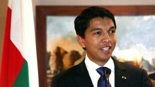 Le président de la Transition malgache, Andry Rajoelina, en août 2012.