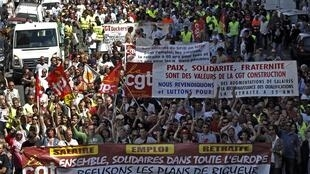 A demonstration against pension reform in Marseille last month