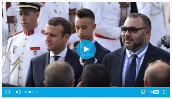 法国总统马克龙6月14日到达摩洛哥
