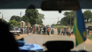 Patrouille de la Minusca à Bangui, RCA.