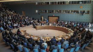 Le Conseil de sécurité de l'ONU s'est réuni autour d'une résolution sur les violences sexuelles dans les conflits, le 23 avril 2019.