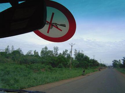 La route principale du Cameroun est l'axe qui relie Bangui au port de Douala.